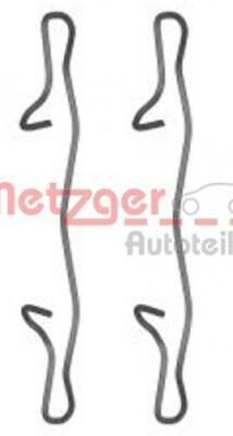 Metzger Zubehörsatz Scheibenbremsbelag 1091755 für MERCEDES-BENZ FORD CHEVROLET