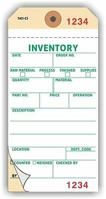 Inventory Tags Numbered 3 Places 6.25 X 3.125 White On Manila Ncr Paper2