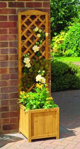 garden planter with trellis ebay. Black Bedroom Furniture Sets. Home Design Ideas