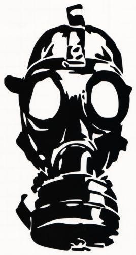 Gas Mask Sticker Ebay