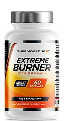 Extreme Burners for Men and Women - 60 Vegetarian Capsules - UK Made - Premium S