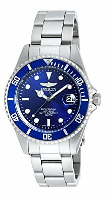 Invicta Men's Pro Diver Quartz Watch with Stainless-Steel Strap, Silver, 9