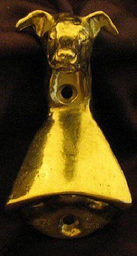 ITALIAN GREYHOUND Wall Mounted Bottle Opener in Bronze