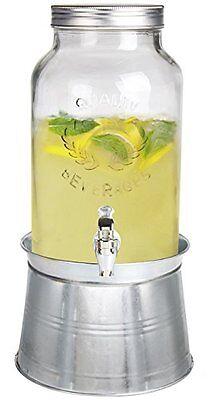 Estilo 1.5 gallon Glass Mason Jar Beverage Drink Dispenser With Bucket