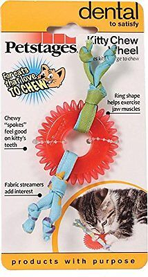 Petstages Dental Kitty Chew Wheel, 5 L X 2 W