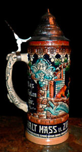 Beer Stein w. Pewter Lid Cambridge Kitchener Area image 3