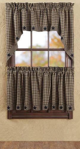 Black Primitive Curtains Ebay