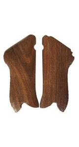 German Army P08 LUGER Wooden Pistol Grips - BROWN - WW2 Repro Wood Handle