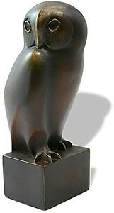 OWL BRONZE SCULPTURE STATUE FIGURINE FRANCOIS POMPON FRENCH FRANCE ART NEW