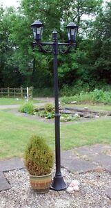 Victorian Outdoor Lighting Twin Double Head Garden Path