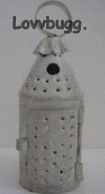 "Lovvbugg White Lantern Classic Pierced Tin Mini for 18"" American Girl Doll Accessory"