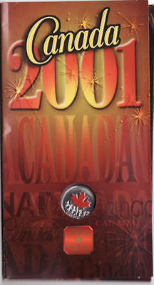 2001 Canada Day Coloured 25 Cent Coin