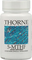 Thorne Research 5-MTHF, 1 mg Supplement, 60 vegetarian capsules