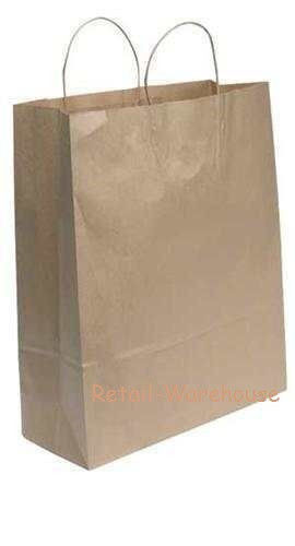 """Kraft Paper Bags Shopping 200 16"""" x 6"""" x 19"""" (Queen) Retail Merchandise Gift"""