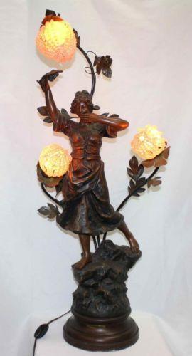 Art Nouveau Figural Lamp Ebay
