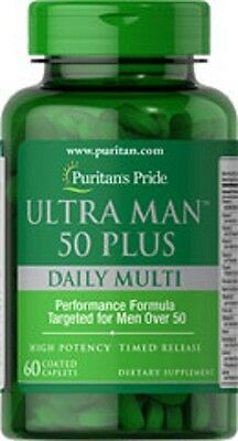 MAN 50+ MULTIVITAMIN (60 VITAMINS MINERALS HERBS) DAILY SUPPLEMENT 60 CAPLETS