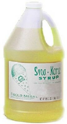 4 Ea Gal Gold Medal Lime 1226 Sno-cone Sno-kone Syrup