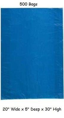 500 Plastic Shopping Bags Blue Gift Jumbo Retail Merchandise 20 X 5 X 30](Jumbo Plastic Gift Bags)