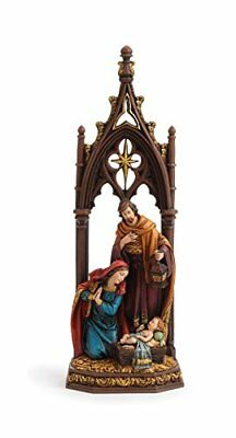 Cathedral Arch Holy Family 12 inch Christmas Nativity Scene Sculpture Decoration