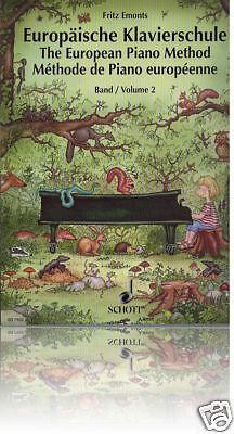 Fritz Emonts - Europäische Klavierschule Band 2 - Schule für Klavier
