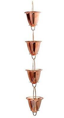 Acurite 8 ft. Rain Chain Copper Cup