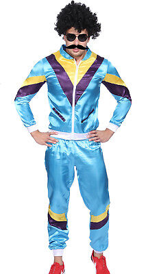 Men Christmas Tracksuit Scouser Shell 80's Suit Retro Dance Costumes Fancy Dress (Men 80s Costumes)