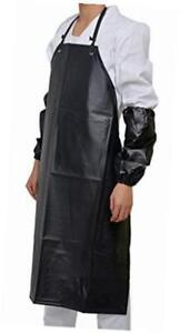 Heavy Duty Black Waterproof Unisex Apron for Butchers Kitchen