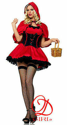 2 Pc Miss Lil' Red Riding Hood Costume Cosplay Small Only (Lil Miss Red Kostüm)