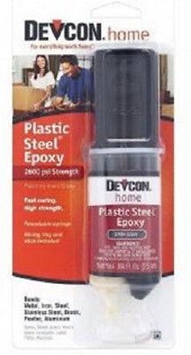 Devcon Plastic Steel Epoxy 0.84oz. Syringe 25 Ml 6 Cards Gl62345x6