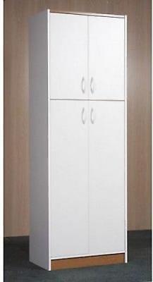 Gigantic Storage Pantry Kitchen Cabinet White 4 Door Wood Organizer 5 Shelves