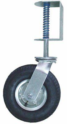 8 Inch Gate Caster Hardware Universal Spring Loaded Swivel Pneumatic Wheel Fence