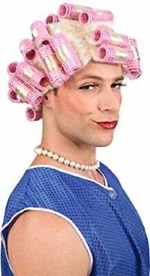 Mens Ladies Old Lady Granny Wig Curlers Rollers Funny Fancy Dress Costume - Old Lady Outfit