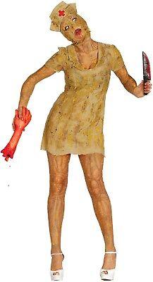 Ladies Silent Zombie Dead Nurse Game Film Halloween Fancy Dress Costume Outfit - Silent Film Costume Halloween
