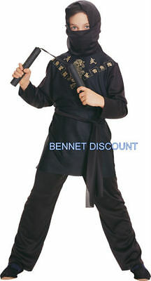 BLACK NINJA BOYS HALLOWEEN FANCY DRESS PARTY COSTUME REDUCED CLEAR FREE UK P+P - Ninja Halloween Costume Uk