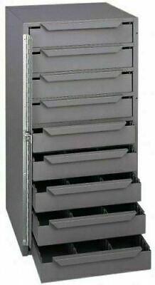 Van Truck Parts Storage Cabinet 9 Drawer Gray Steel Organizer Bits Nuts Bolts