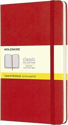 NWT Moleskine Classic Notebook Pocket Squared Red Hard Cover 3.5 x 5.5 NEW