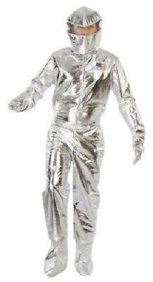Herren Silber Astronaut Astronaut Halloween Kostüm Kleid Outfit M & L