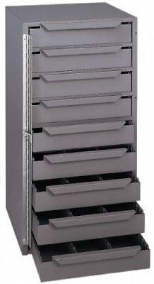 Metal Storage 9 Bins Locking Cabinet Parts Nuts Bolt Fasteners Screws Hole Truck