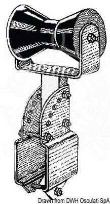 Adjustable Keel Roller Bracket - Osculati Boat Trailer Small Keel Central Roller w/ Adjustable Bracket 100x100 mm