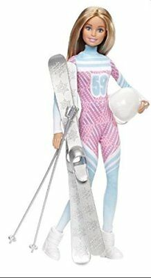 Barbie Skier Doll Pink Passport Made to Move