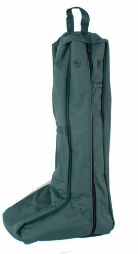 Lami Cell Heavy Nylon Zippered Padded Lined English Boots Carrier Bag w/ Pockets