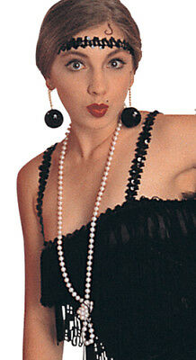Flapper Girl Long Bead Necklace for Halloween Costume