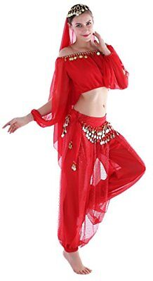 ly Dancer Costume Genie Outfit With Harm Pants Red 8 10 12 1 (Genie-outfit)