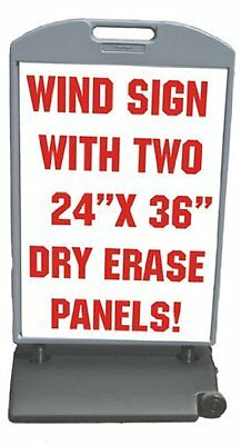 53 X 29 Wind Frame Sandwich Board Sidewalk Sign W 24 X 36 Dry Erase Panels