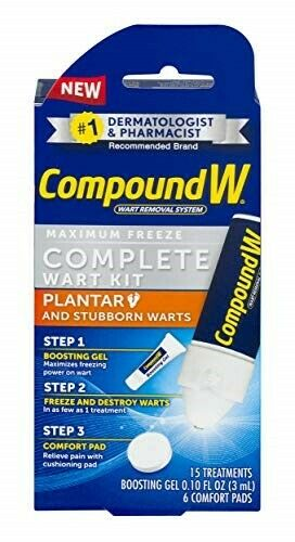 Compound W Complete Wart Kit Maximum Freeze Off Remover Plan
