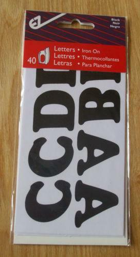 how to do iron on letters iron on letters black ebay 22276 | $ 3