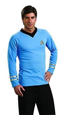 Star Trek Men's Halloween Costume Shirt Size Medium 34-36 NEW Mr Spock Blue - Mr Spock Halloween Costume
