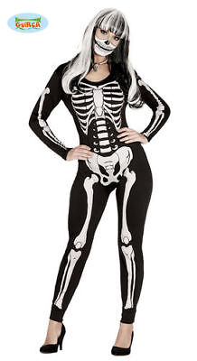 Skelett Damen Catsuit Skelettkostüm Damenkostüm Halloween