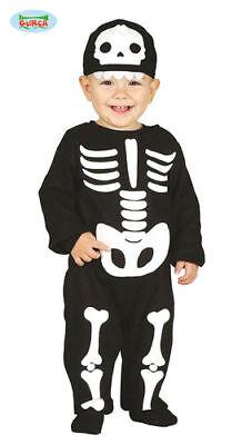 süßes Baby Skelettkostüm Babykostüm Skelett totenkopf Halloween Kleinkind