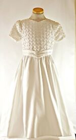 Girls Bridal, Holly Communion dress with zipped bowed back.